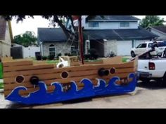 How to: Build a Parade Float - Pirate Ship/Tea Party - YouTube
