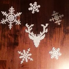 Hama perler snowflakes ornaments by marieurdal