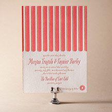 Sweet Summer Letterpress Invitation Design Small