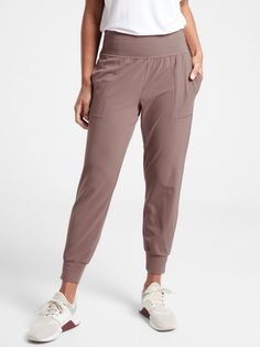 Salutation Jogger | Athleta Joggers Outfit, Yoga Pants Outfit, Plaid Fabric, Floral Headbands, Fitness Studio, Athleisure, Casual Outfits, Women's Casual, Casual Wear