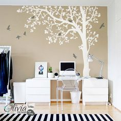 Large Tree vinyl wall decal Wall decoration by theOliviaDesign