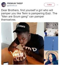 Dear Brothers Find Yourself A Girl Who Will Pamper You Like Temi Otedola Is Pampering Mr Eazi