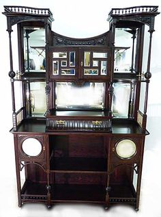 An Eclectic Etagere With Anglo-Japanese Style c. 1880's