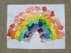 Paint chip hunt & rainbow creation