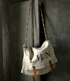 Painted vintage mail bag and some other gorgeous bags posted in 2010.