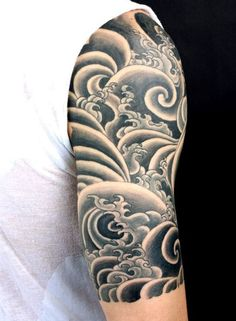 55 Best Arm Tattoo Ideas For Men The Trend Spotter Forearm Tattoos For Men The . - 55 Best Arm Tattoo Ideas For Men The Trend Spotter Forearm Tattoos For Men The Rockstar Style Thre - Wave Tattoo Sleeve, Half Sleeve Tattoos For Guys, Half Sleeve Tattoos Designs, Cool Arm Tattoos, Full Sleeve Tattoos, Tattoo Designs Men, Tribal Tattoos, Tattoo Wave, Hipster Tattoo