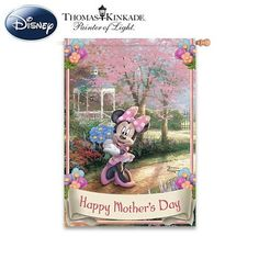 Disney Thomas Kinkade Happy Mother's Day Flag - Mother's Day Garden Flags: Gift Ideas for Moms