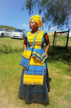 We have the latest modern Xhosa dresses online on Sunika. Discover Top Xhosa dresses designers in South Africa for your next outstanding Xhosa Wedding dress. Xhosa Attire, African Attire, African Wear, African Dress, African Clothes, South African Traditional Dresses, Traditional Fashion, Traditional Outfits, African Print Fashion
