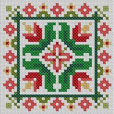 Tulips Scissor Fob or Ornament pdf chart pattern by ZenXstitch