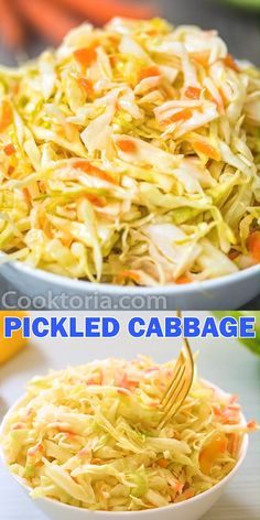 This Easy Pickled Cabbage is crunchy, tangy, sweet, and seriously addicting. It's easy to make and ready to eat in about 12 hours. Fermentation Recipes, Canning Recipes, Mexican Food Recipes, Vegetarian Recipes, Healthy Recipes, Red Cabbage Recipes, Veggie Dishes, Vegetable Recipes, Vegetable Salad
