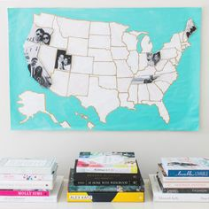 This DIY Photo Map Is the Sweetest Anniversary Present Ever via Brit + Co.