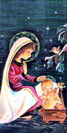 Constanza Armengol Tarjetas Vintage Postales Saludos Navidad Ilustraciones de Calidad