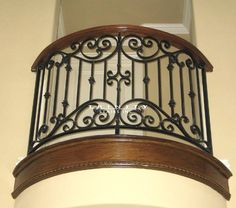 There has been an increase in home designs with added custom iron balconies and other iron items, such as decorative railing and iron inserts. Description from trinitystairs.com. I searched for this on bing.com/images