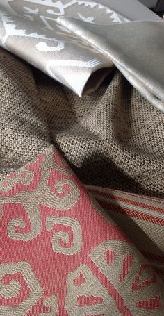 "The look of ""hand loomed"" fabrics. America's Heritage Collection. Joe Ruggiero Designs."