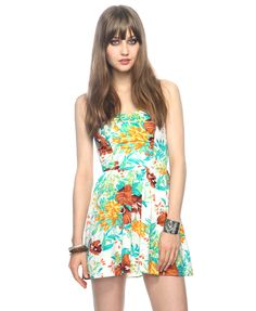 Bold Floral Sweetheart Dress | FOREVER21 - 2000035871