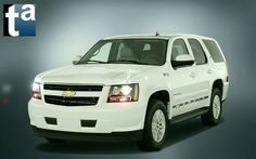 042 - #Chevrolet Reflections #SUV #TAHOE Hybrid Summit White 2010