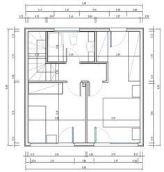 Casa quadrada de 2 quartos microhomes pinterest for Casa moderna 6x6