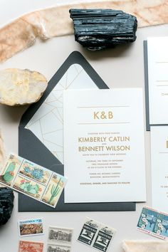 Jupiter and Juno wedding invitation suite: AARON, the perfect minimal wedding invitation, gold foil, geometric, boho inspired, grey and champagne, foil stamping, wedding invitation wording ideas
