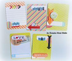 handmade cards project life. Like the yellow card with orange arrow.