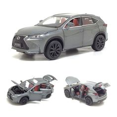 Material : Metal, plastic, rubber Features : DiecastScale : : 14 cm x 6 cm x 5 cm Type : CarTrunk Open : YesHood Open : YesDoor Open : Yes Lexus Nx 200t, Car Trunk, Light Pull, Luxury Suv, Dump Truck, Exotic Cars, Scale Models, Diecast, Super Cars