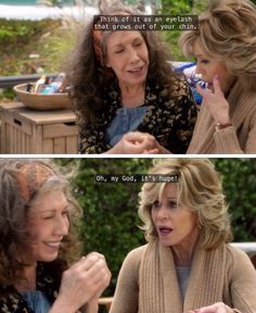 Grace Hanson from Grace and Frankie: Introduction. Grace is very aware of her physical appearance. She attempts to maintain her beauty and is continuously concerned about her social standings.  However, when she divorces her husband because he's gay she struggles with the social repercussions. This is a nonnormative influence which ultimately shapes who she becomes. Her character development is solely dependent on this event and it causes her to be less rigid in her perspectives.