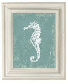 Digital Download No 280  Seahorse   Print by OliveRuePress on Etsy, $2.00