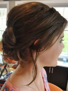 Slightly Braided Updo