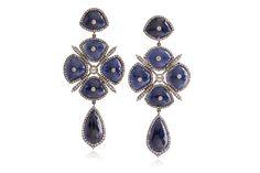 Victorian style Iolite and diamonds--STUDIOTARA