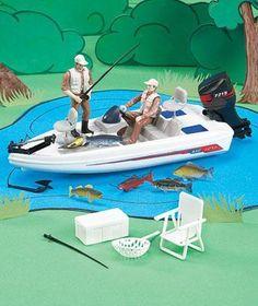 Fishing Boat Cake Topper