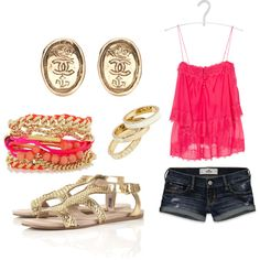 Cute Summer Outfit- ahhhhh love everything but the shoes ewww they look like grandma!0_0