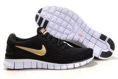 size 40 c87a0 cbe4d Cheap Nike Free Run Black Gold Womens   Mens Trainers Sale