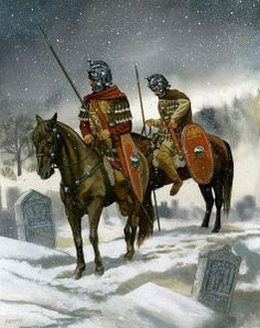 Roman cavalry Patrol. 3rd Century CE  More @ FOSTERGINGER At Pinterest