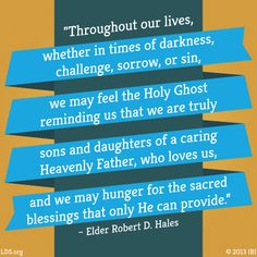 Quote about how the influence of the Holy Ghost makes life easier
