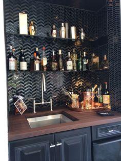Dark but a good bar re liquor layout