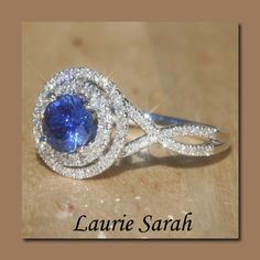 Ceylon blue sapphire ring with twisted band. My oh my!
