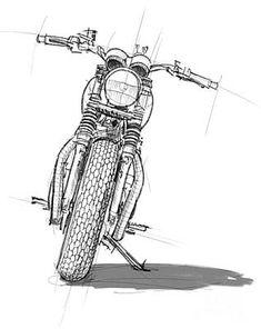 Triumph Bonneville,custom,original Artwork,gift For Bikers 1 Art Print by Drawspots Illustrations Bike Drawing, Doodle Art Drawing, Pencil Art Drawings, Motorcycle Art, Bike Art, Triumph Bonneville Custom, Bike Sketch, Biker Tattoos, Ayrton Senna
