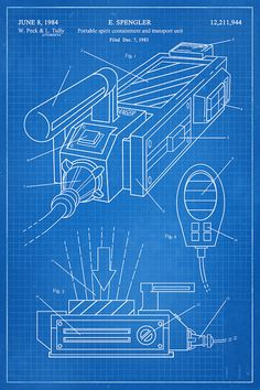 GHOSTBUSTERS Ghost Trap Fantasy Art Patent by thepatentoffice
