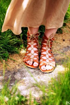 Love how these gladiator sandals lace up.