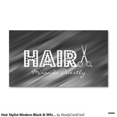 Make a stylish statement with hair stylist business cards from Zazzle. Search and find new cards for yourself and your salon today! Hairstylist Business Cards, Custom Business Cards, Black And White, Modern, Trendy Tree, Black N White, Black White