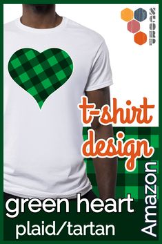 Our plaid or tartan St Patricks Day green big heart is the perfect for all love St Paddys Day. People who love St Patricks day will love this green big plaid or tartan heart Irish design. A great way to celebrate St Pattys day. An awesome gift idea for the Irish expat. #t-shirt #plaid #tartan #amazon #stpaticksday T Shirt Designs, Tartan, Plaid, St. Patricks Day, Irish Design, St Paddys Day, St Pattys, Best Gifts, Amazon