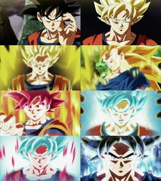 P Goku all forms & transformations Dragon Ball Z, Dragon Z, Goku All Forms, Super Goku, Films Marvel, Ssj3, Anime Merchandise, Anime Costumes, Sketches