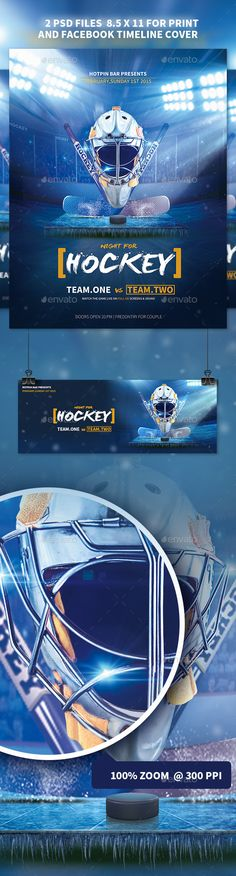 Hockey Match Flyer Template — Photoshop PSD #ice arena #college hockey • Available here → https://graphicriver.net/item/hockey-match-flyer-template/11071980?ref=pxcr