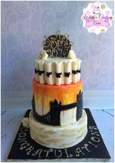 London Graduation Cake