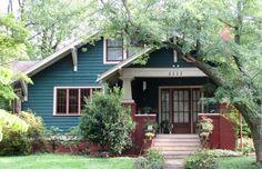 Exterior Paint Colors, Exterior House Colors, Paint Colors For Home, Exterior Design, Bungalow Exterior, Craftsman Exterior, Craftsman Bungalows, Craftsman Houses, Craftsman Style