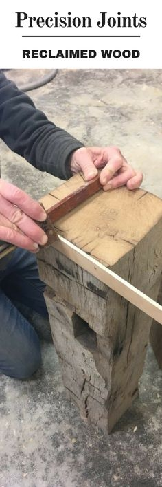 How to Create Precise Joints in Reclaimed Lumber #WoodworkingTips