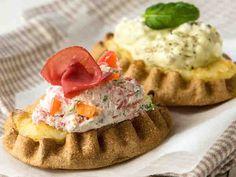 Pesto, Baked Potato, Camembert Cheese, Sushi, Waffles, Tacos, Baking, Breakfast, Ethnic Recipes