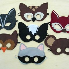 Cute Little Critters Felt Masks