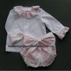 Conjunto de camisa y cubrepañal ELSA
