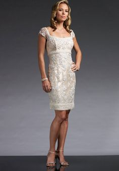 Special Occasion Dresses and Chic Short Suits Fit for Any Occasion by Mon Cheri Bridal. Featuring gorgeous a-lines, mid-length dresses versatile for many occasions including wedding guest or mother of the bride. Mother Of The Bride Gown, Mother Of Groom Dresses, Bride Groom Dress, Groom Outfit, Mothers Dresses, Country Wedding Dresses, Wedding Party Dresses, Mon Cheri, Mob Dresses