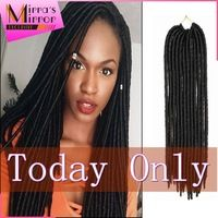 "18"" Havana Mambo Faux Locs crochet hair Braids Crochet Dread locks synthetic Hair Extensions Softex Crochet Twist Braids 1B"